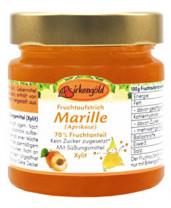 Fruchtaufstrich Marille Aprikose ohne Zuckerzusatz