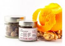 N°03 Orange Ingwer Gourmetkugeln aus Rohkakao