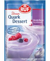 Quark Dessert Heidelbeer Geschmack