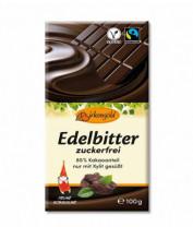Edelbitter-Schokolade zuckerfrei