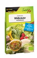 Salatfix Wildkräuter mit Himbeeren - glutenfrei
