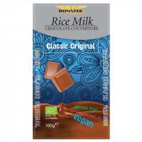 Reismilchschokolade Kuvertüre laktosefrei - glutenfrei