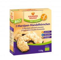 Bio 2 Marzipan-Mandelhörnchen - glutenfrei