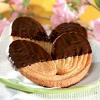 Schweinsohren mit Zartbitterschokolade - glutenfrei