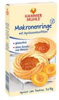 Makronenringe mit Aprikosenkonfitüre - glutenfrei