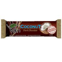 Kokosriegel mit Zartbitterschokolade - glutenfrei