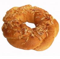 Oster Kränzle Dekor: gestiftelte Mandeln, frisch gebacken - glutenfrei
