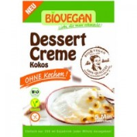 Kokos Dessertcreme ohne Kochen - glutenfrei