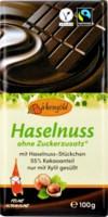 Zartbitter-Scholokade mit Haselnuss - glutenfrei