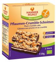 Pflaumen-Crumble-Schnitten - glutenfrei
