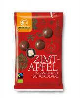 Bio Zimt-Apfel in zweierlei Schokolade