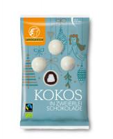 Bio Kokos in zweierlei Schokolade - glutenfrei