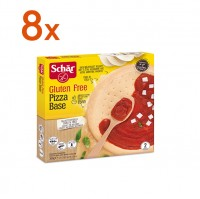 Sparpaket 8 x Pizza Base - glutenfrei