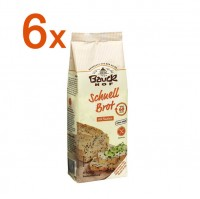 Sparpaket 6 x Schnellbrot mit Saaten - glutenfrei