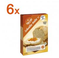 Sparpaket 6x Schnelles Helles Brot - glutenfrei