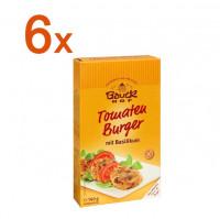 Sparpaket 6 x Tomaten Burger mit Basilikum - glutenfrei
