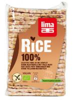 Dünne Vollkorn-Reiswaffeln eckig und gesalzen - glutenfrei