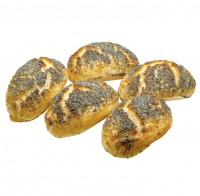 Mohnbrötchen 5 Stück frisch gebacken - glutenfrei
