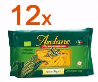 Sparpaket 12 x Le Asolane Penne Rigate Bio - glutenfrei