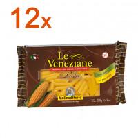 Sparpaket 12 x Le Veneziane Penne Rigate - glutenfrei