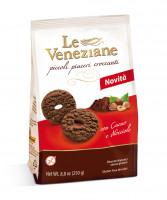 Le Veneziane Biscotti mit Kakao und Haselnüssen - glutenfrei
