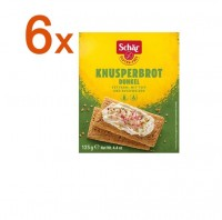 Sparpaket 6 x Knusperbrot dunkel - glutenfrei