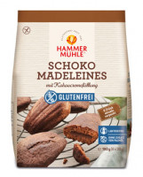 Schoko Madeleines mit Kakaocremefüllung - glutenfrei