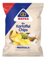 Bio Kartoffel-Chips mit Meersalz - glutenfrei