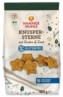 Bio Knuspersterne mit Butter & Zimt - glutenfrei