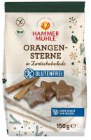 Bio Orangensterne in Zimtschokolade - glutenfrei