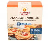 Bio Makronenringe mit Marzipan & Aprikosenkonfitüre - glutenfrei