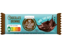 No Sugar Added Chocolate Brownie Riegel - glutenfrei