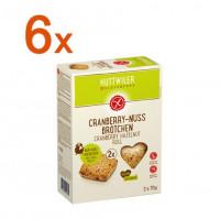 Sparpaket 6 x Cranberry-Nuss Brötchen - glutenfrei
