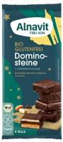 Bio Dominosteine mit Zartbitterschokolade - glutenfrei