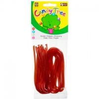 Bio Erdbeerschnüre aus Fruchtgummi - glutenfrei