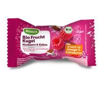 Bio Frucht Kugel Himbeere & Kokos - glutenfrei