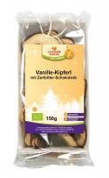 Bio Vanille-Kipferl mit Zartbitter-Schokolade - glutenfrei