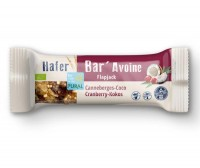 Hafer Bar Riegel Cranberry Kokos - glutenfrei