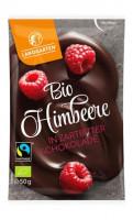 Bio Himbeeren in Zartbitterschokolade - glutenfrei