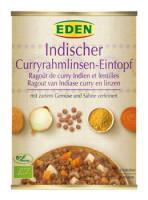 Indischer Curryrahmlinsen Eintopf - glutenfrei