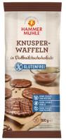 Knusperwaffeln in Vollmilchschokolade - glutenfrei
