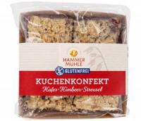 Kuchenkonfekt Hafer-Himbeer-Streusel - glutenfrei