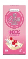 No Sugar Added Himbeere Weisse Schokolade - glutenfrei