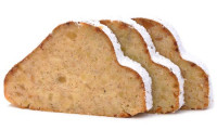 Mandelstollen geschnitten frisch gebacken - glutenfrei