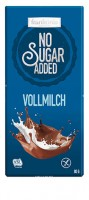 No Sugar Added Vollmilch Schokolade - glutenfrei