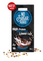 No Sugar Added High Protein Chocolate Crisp Schokolade - glutenfrei