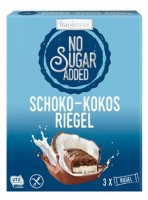 No Sugar Added Schoko-Kokosriegel - glutenfrei
