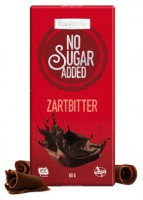 No Sugar Added Zartbitter Schokolade - glutenfrei