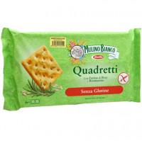 Quadretti Cracker mit Rosmarin - glutenfrei