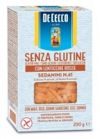 Sedanini n.61 glutenfrei mit roten Linsen - glutenfrei